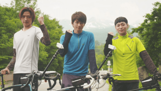 白洲迅 ロードバイク 筋肉
