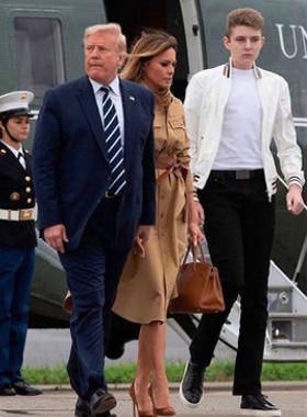 トランプ大統領とバロン君
